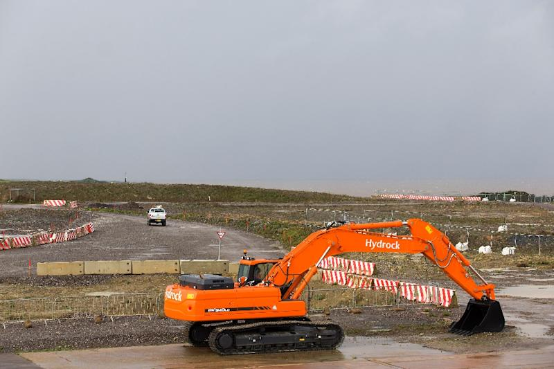 The site in western England where Hinkley C nuclear power station is scheduled to be built (AFP Photo/Justin Tallis)