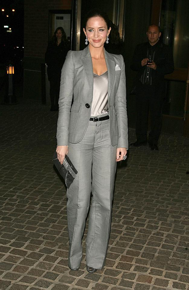 """<a href=""""http://movies.yahoo.com/movie/contributor/1808577445"""">Emily Blunt</a> at the New York Cinema Society screening of <a href=""""http://movies.yahoo.com/movie/1809736206/info"""">The Great Buck Howard</a> - 03/10/2009"""