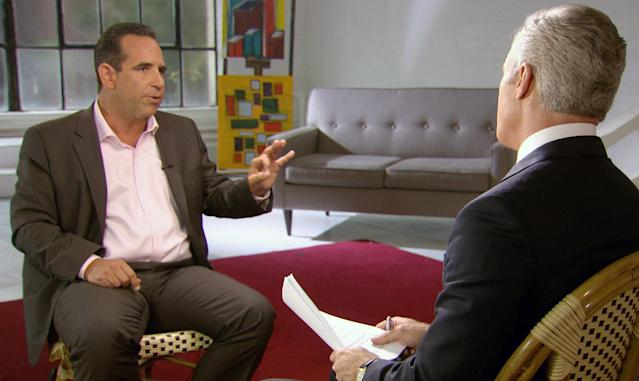 In this undated image taken from video and provided by CBS, Biogenesis founder Anthony Bosch talks about providing banned substances to Alex Rodriguez during a interview in New York that will air on the 60 Minutes broadcast Sunday, Jan. 12, 2014. On Saturday, Jan. 11, 2014 an arbitrator ruled that the NY Yankees' third baseman will have to sit out 162 games for his illegal use of performance enhancing drugs. (AP Photo/CBS)