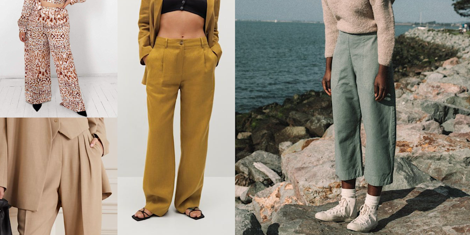 """<p>Ready to sprint into summer? Of course not. Because you don't have any of these breezy lightweight summer pants in your wardrobe yet, and you can't be out here sweating up a storm in jeans! <a href=""""https://www.cosmopolitan.com/style-beauty/fashion/a32304094/long-shorts-trend/"""" rel=""""nofollow noopener"""" target=""""_blank"""" data-ylk=""""slk:Shorts"""" class=""""link rapid-noclick-resp"""">Shorts</a>, skirts, dresses, and <a href=""""https://www.cosmopolitan.com/style-beauty/fashion/g19566696/new-swimwear-brands/"""" rel=""""nofollow noopener"""" target=""""_blank"""" data-ylk=""""slk:bathing suits"""" class=""""link rapid-noclick-resp"""">bathing suits</a> may be your go-to pieces during the hotter days, but sometimes you want to stun in some good ol' pants. Luckily, there are styles that are sheer, breezy, and lightweight for the season, so you won't feel like you're actually melting. We know all too well that those heavy-knit <a href=""""https://www.cosmopolitan.com/style-beauty/fashion/g31814564/best-sweatpants-for-women/"""" rel=""""nofollow noopener"""" target=""""_blank"""" data-ylk=""""slk:sweatpants"""" class=""""link rapid-noclick-resp"""">sweatpants</a> and <a href=""""https://www.cosmopolitan.com/style-beauty/fashion/g32178213/best-black-leggings/"""" rel=""""nofollow noopener"""" target=""""_blank"""" data-ylk=""""slk:leggings"""" class=""""link rapid-noclick-resp"""">leggings</a> you've been wearing all quarantine don't really mesh well with the relentless summer sun, so we've rounded up our favorite breathable bottoms below. Plus, as the <a href=""""https://www.cdc.gov/media/releases/2021/p0402-travel-guidance-vaccinated-people.html"""" rel=""""nofollow noopener"""" target=""""_blank"""" data-ylk=""""slk:world and offices begin to *slowly* open up"""" class=""""link rapid-noclick-resp"""">world and offices begin to *slowly* open up</a>, we're all looking for a reason to look cute these days. (I mean, people are literally <a href=""""https://www.cosmopolitan.com/lifestyle/a35822031/covid-19-vaccine-dress-up-trend/"""" rel=""""nofollow noopener"""" target=""""_blank"""" data-ylk=""""slk:DRESSING UP to get th"""