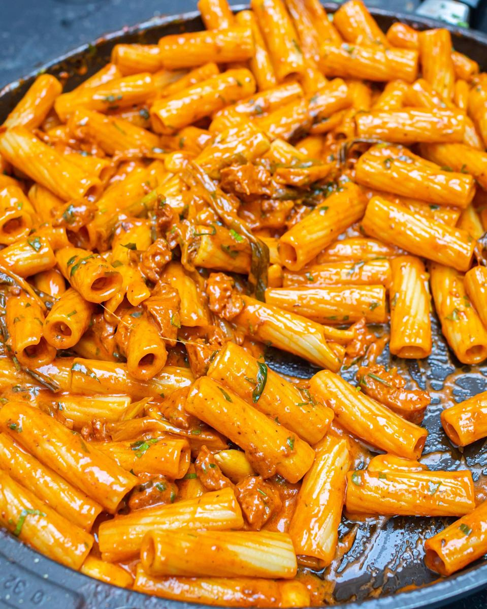 Well a greasy (yet kind of healthy) pasta is the obvious choice for hangover foodMOB Kitchen