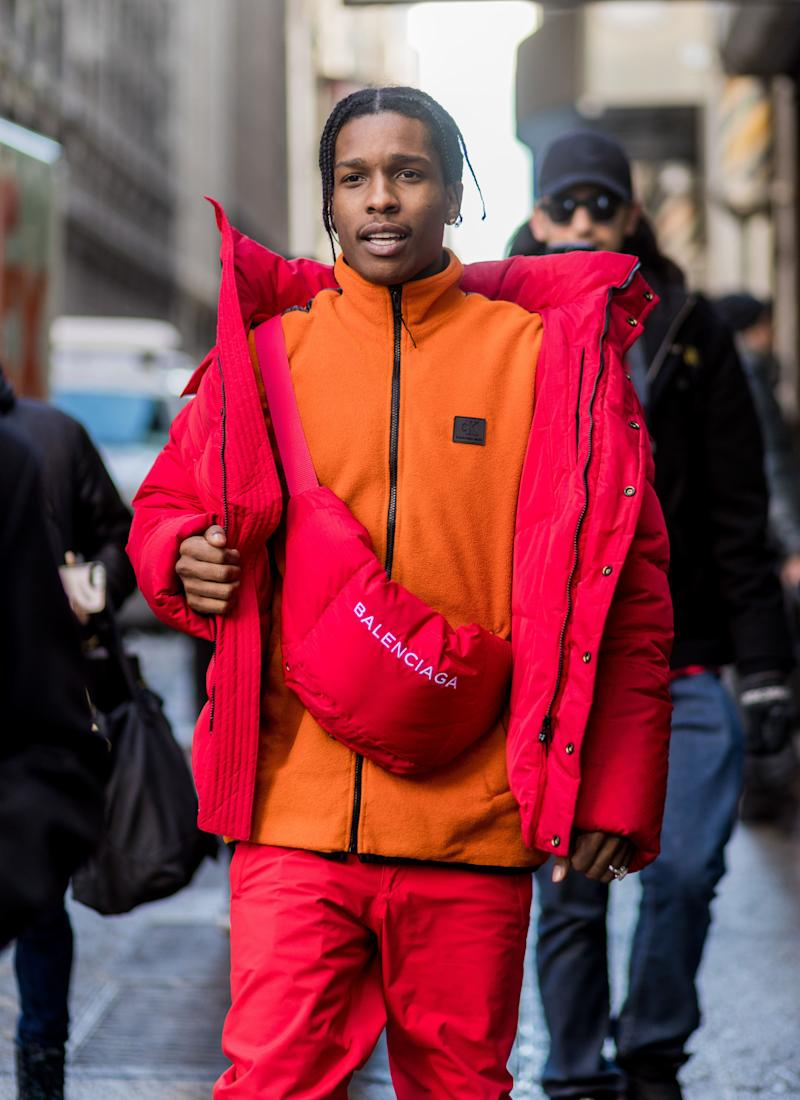 A$AP Rocky outside Calvin Klein on Feb. 10, 2017 in New York City.