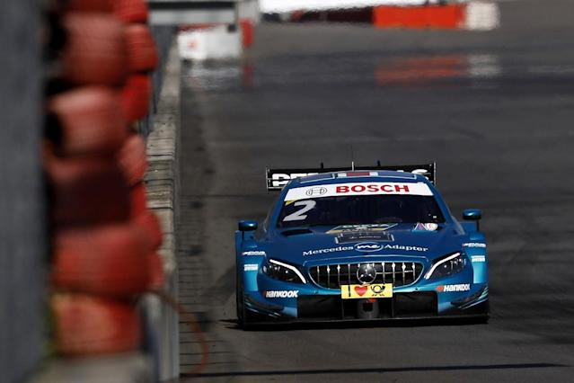 Gary Paffett took a dominant victory in the second Lausitz DTM race of the weekend for Mercedes, as ex-Formula 1 driver Timo Glock maintained his championship lead with fifth
