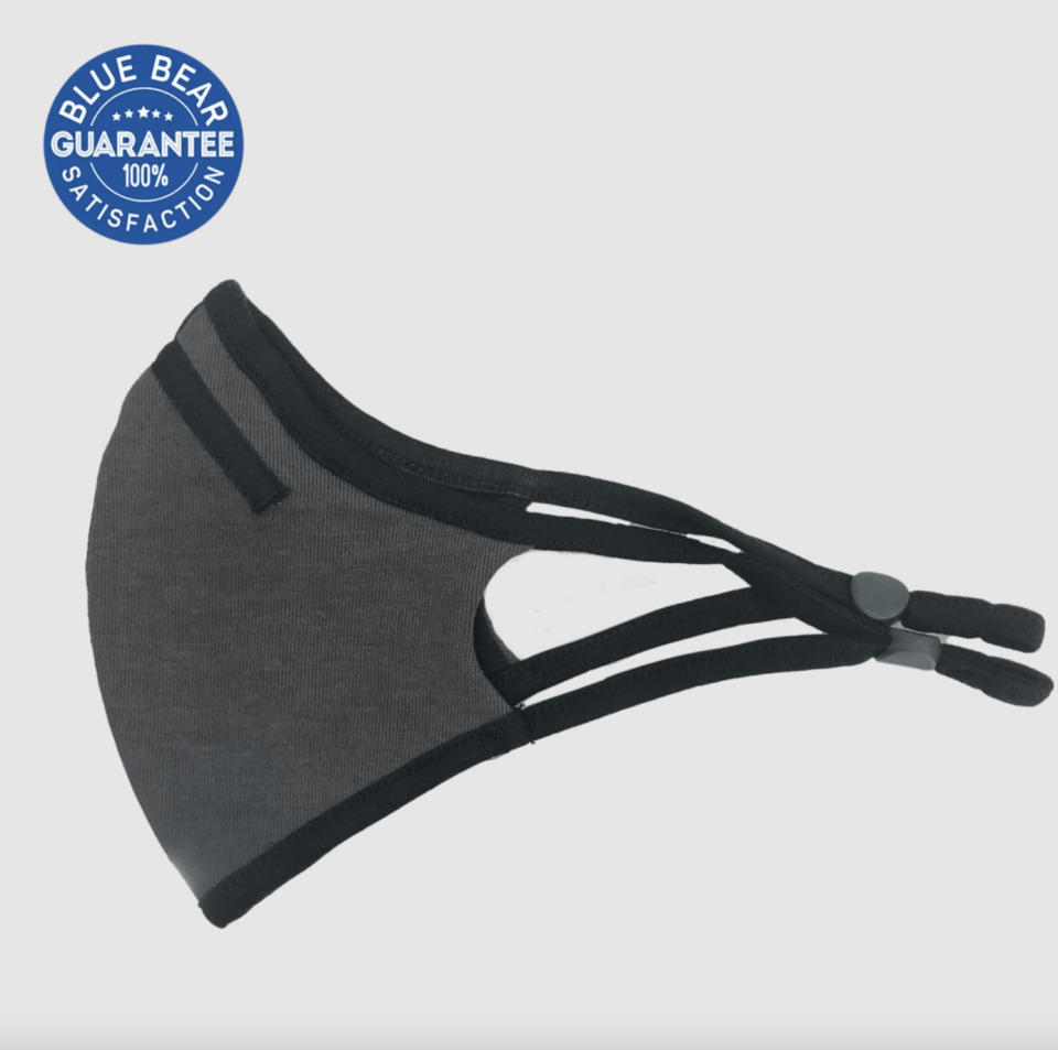 11 breathable masks to wear during your workout: Blue Bear Protection ProSport Mask ft. Nanotec Filter in Charcoal (Photo via Blue Bear Protection)