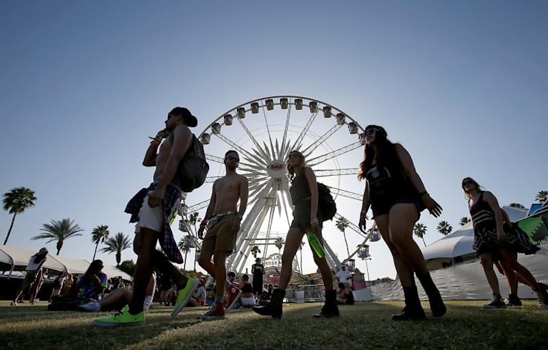 Set times for the 2015 Coachella festival have been announced. Pictured: A scene from last year's event.