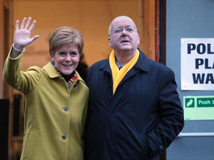 Nicola Sturgeon with husband Peter Murrell (PA)