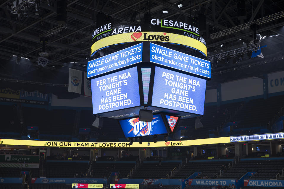 A message on the video score board at the Utah Jazz game.