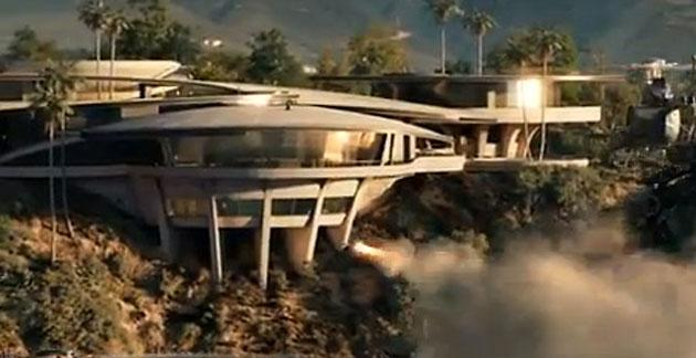 tony starks mansion is under attack in iron man - Iron Man House