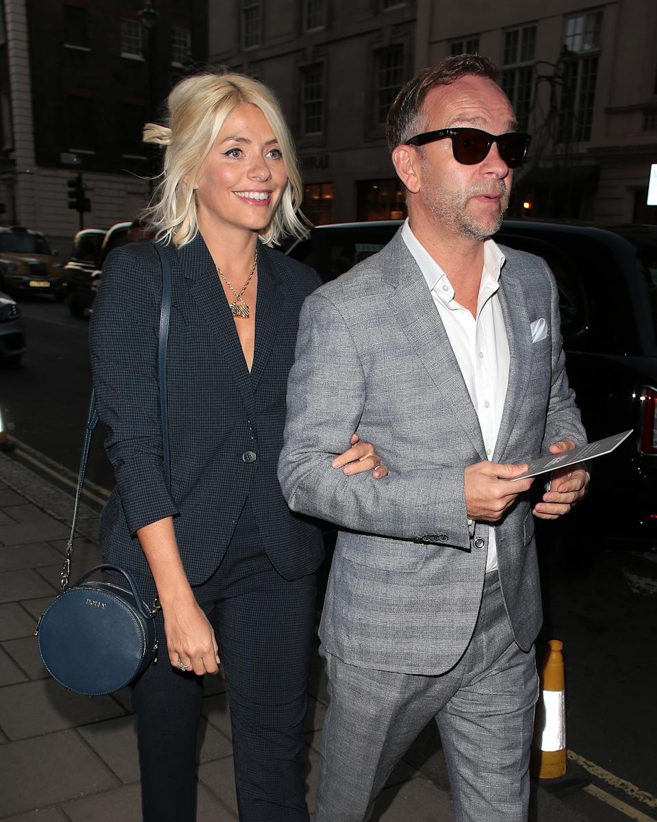 Holly Willoughby arrived with her husband Daniel Baldwin at Claridge's for the charity auction event [Photo: Getty Images]