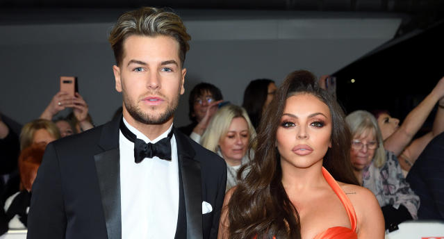 Chris Hughes and Jesy Nelson attend the National Television Awards 2020 at The O2 Arena on January 28, 2020 in London, England. (Photo by Karwai Tang/WireImage)