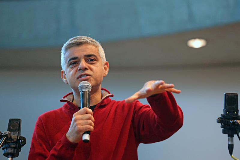 Mayor of London Sadiq Khan speaks at City Hall, London, as the building is opened as a homeless day shelter for 100 service users from St Mungo's charity.