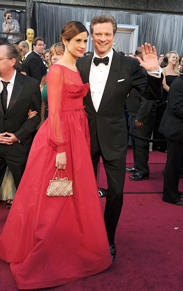 Colin Firth and Livia Giuggiola  arrive at the 84th Annual Academy Awards in Hollywood, CA.