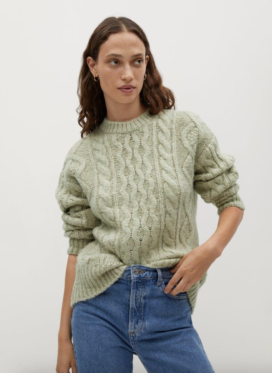 <p>This <span>Mango Cable-knit Sweater</span> ($40, originally $80) will look good, no matter what you pair it with.</p>