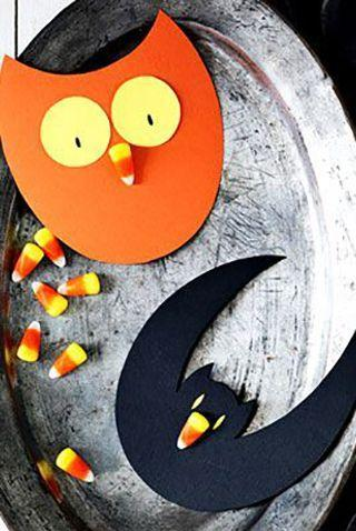 """<p>If the kids are feeling bored or you want to get started on your Halloween party invites, decorate these cards with a sweet candy corn treat. </p><p><em><strong><a href=""""https://www.womansday.com/home/crafts-projects/how-to/a5252/halloween-craft-how-to-candy-corn-cards-111907/"""" rel=""""nofollow noopener"""" target=""""_blank"""" data-ylk=""""slk:Get the Candy Corn Cards tutorial."""" class=""""link rapid-noclick-resp"""">Get the Candy Corn Cards tutorial.</a></strong></em></p>"""