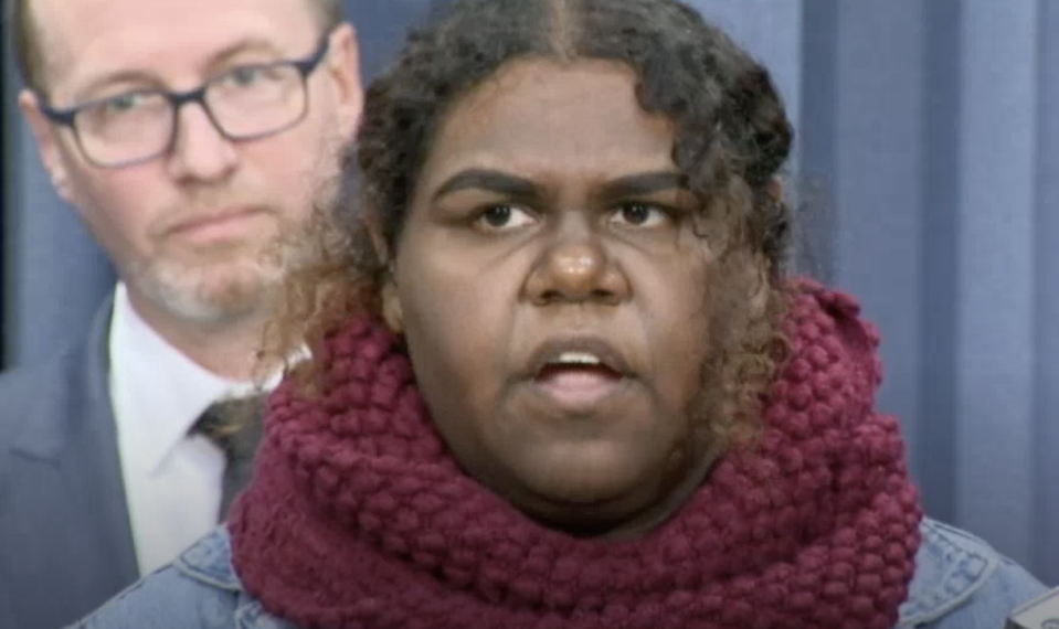 The boy's sister has spoken out at a press conference after the Surry Hills arrest.