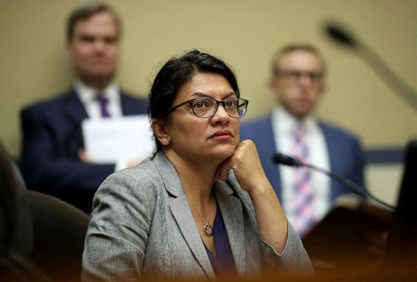 PHOTO: Rep. Rashida Tlaib listens as acting Homeland Security Secretary Kevin McAleenan testifies before the House Oversight and Reform Committee on July 18, 2019 in Washington, DC. (Win McNamee/Getty Images)
