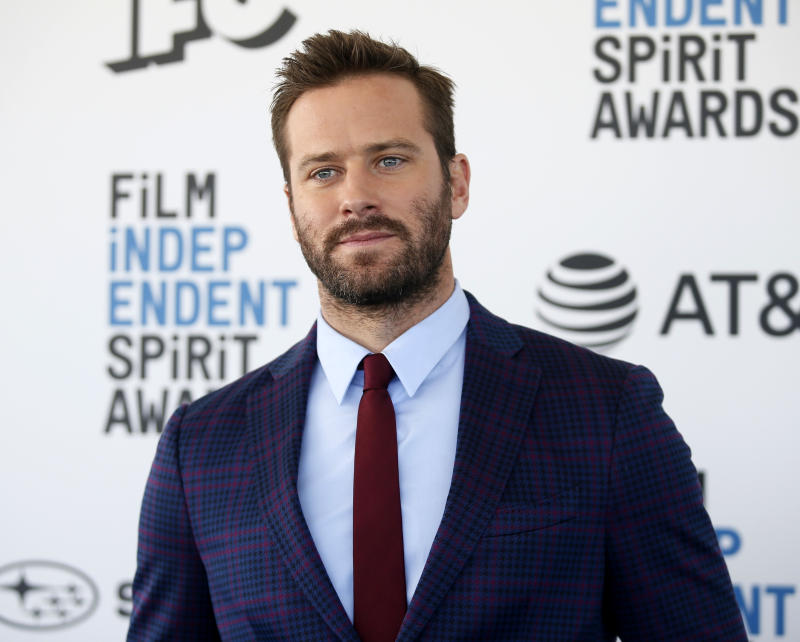 2019 Film Independent Spirit Awards - Arrivals - Santa Monica, California, U.S., February 23, 2019 - Armie Hammer. REUTERS/Danny Moloshok