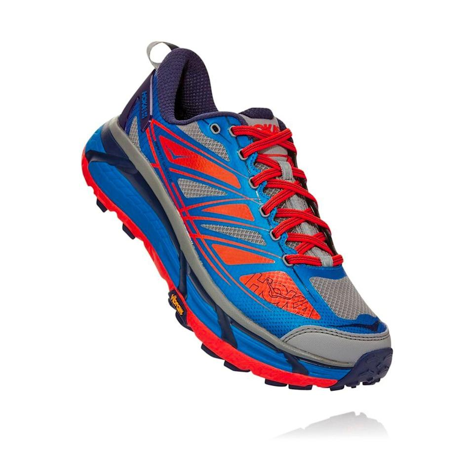"""<p><strong>HOKA</strong></p><p>hokaoneone.com</p><p><a href=""""https://go.redirectingat.com?id=74968X1596630&url=https%3A%2F%2Fwww.hokaoneone.com%2Fsale%2Fmafate-speed-2%2F1012343.html&sref=https%3A%2F%2Fwww.menshealth.com%2Ftechnology-gear%2Fg36099041%2Fhoka-one-one-2021-sale%2F"""" rel=""""nofollow noopener"""" target=""""_blank"""" data-ylk=""""slk:BUY IT HERE"""" class=""""link rapid-noclick-resp"""">BUY IT HERE</a></p><p><strong><del>$170</del> <br>$134.99<br></strong>Long runs on singletrack? Extra gnarly terrain? The Mafate is the horse you want under your saddle. It has a beefy midsole that absorbs a pounding but is super lightweight so it won't slow you down. And the Vibram Megagrip rubber sticks to anything you plant your foot onto. </p>"""