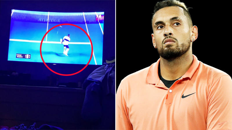 Nick Kyrgios, pictured here in action at the Australian Open.