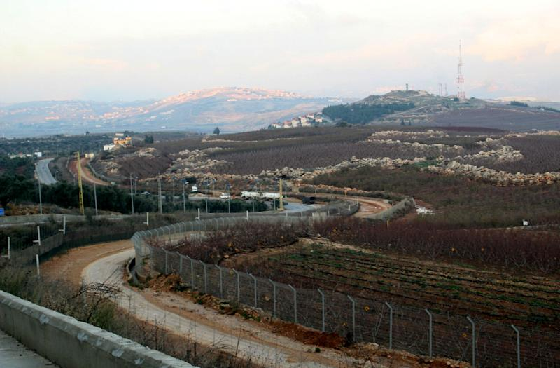 A fence on the border separating southern Lebanon from Northern Israel, January 3, 2012