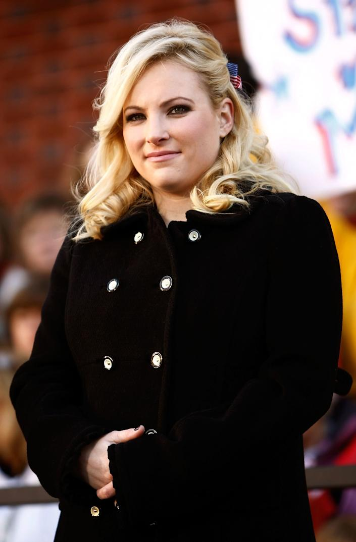 DEFIANCE, OH - OCTOBER 30: Meghan McCain, daughter of Republican presidential nominee Sen. John McCain (R-AZ), attends a campaign rally at Defiance Junior High School October 30, 2008 in Defiance, Ohio. With less than a week before the U.S. presidential election, McCain launched a two-day bus tour of the swing state of Ohio, where some polls show his opponent, Democratic presidential nominee Sen. Barack Obama (D-IL) leading by nine points. (Photo by Chip Somodevilla/Getty Images)