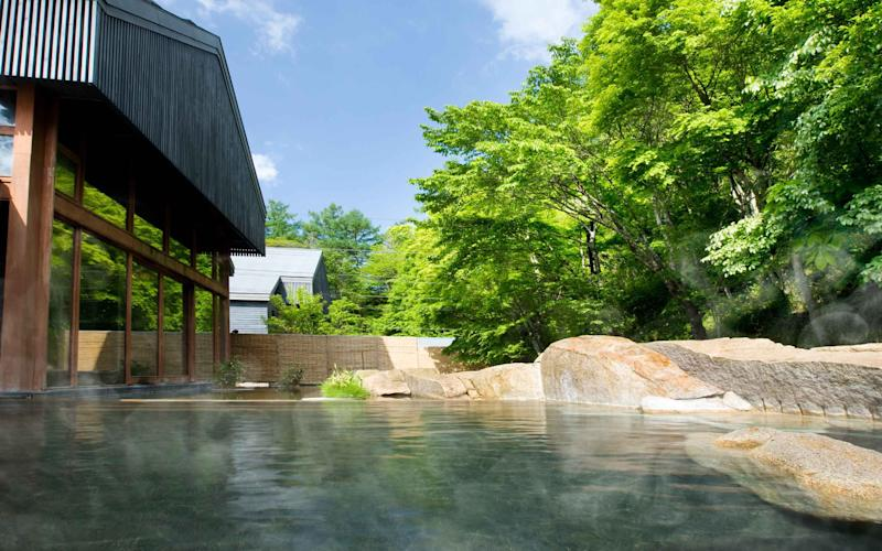 The Hoshino Resort in Karuizawa, Japan is Home to the World's Most Relaxing Hot Springs