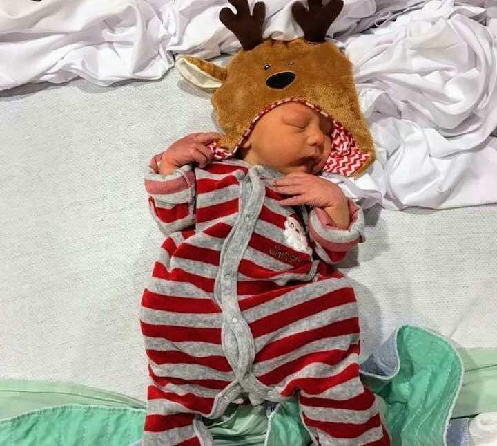 Ally and Oliver spent Christmas in hospital. He's now two-years-old. Photo: Supplied