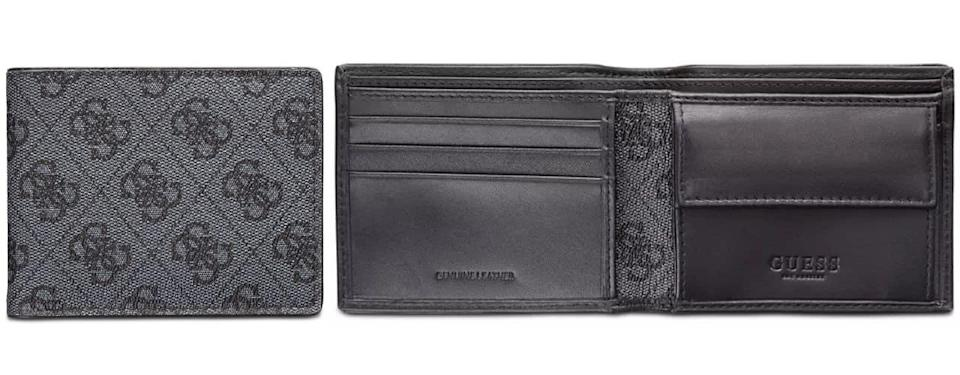 GUESS RFID Slimfold Wallet with Interior Coin Pocket