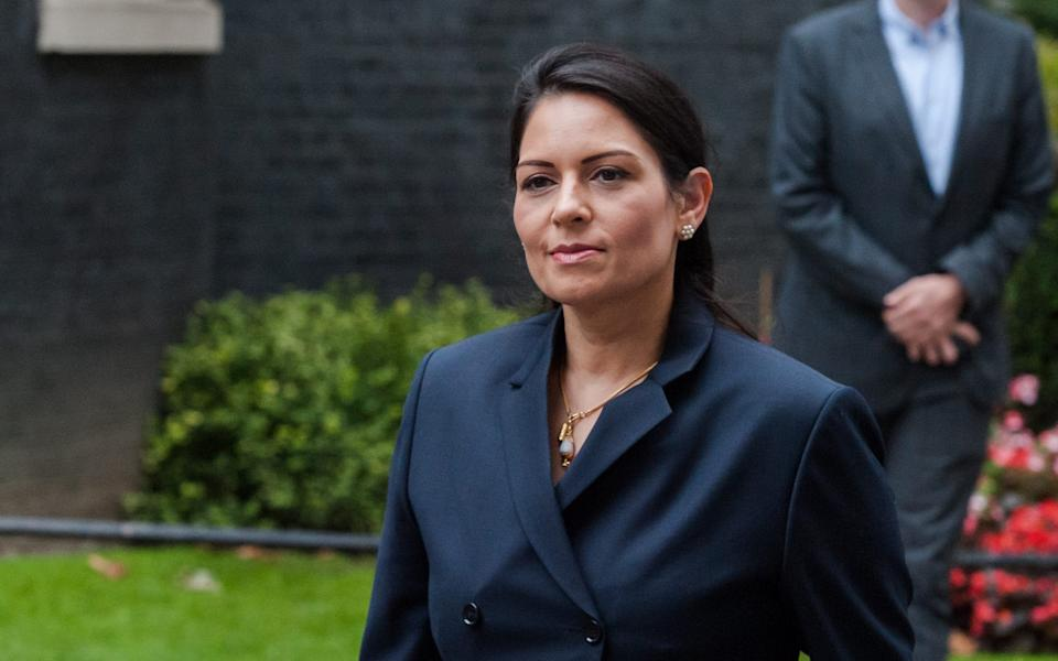 Priti Patel, the Home Secretary, has said that data sharing will make law enforcement easier after the end of the transition period -  NurPhoto/WIktor Szymanowicz
