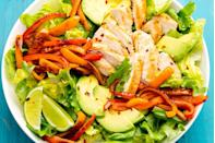 "<p>Your favorite Mexican dish, now in salad form.</p><p>Get the recipe from <a href=""https://www.delish.com/cooking/recipe-ideas/recipes/a47332/fajita-chicken-salad-recipe/"" rel=""nofollow noopener"" target=""_blank"" data-ylk=""slk:Delish"" class=""link rapid-noclick-resp"">Delish</a>.</p>"
