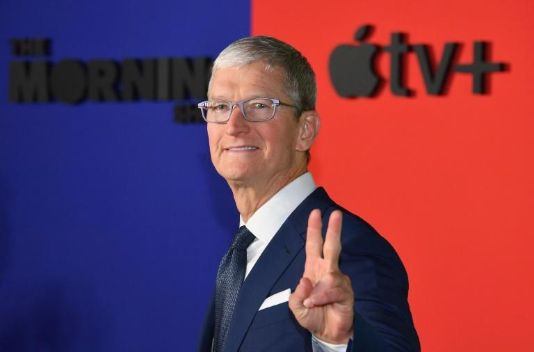 Tim Cook, le patron d'Apple, le 28 octobre 2019 à New York