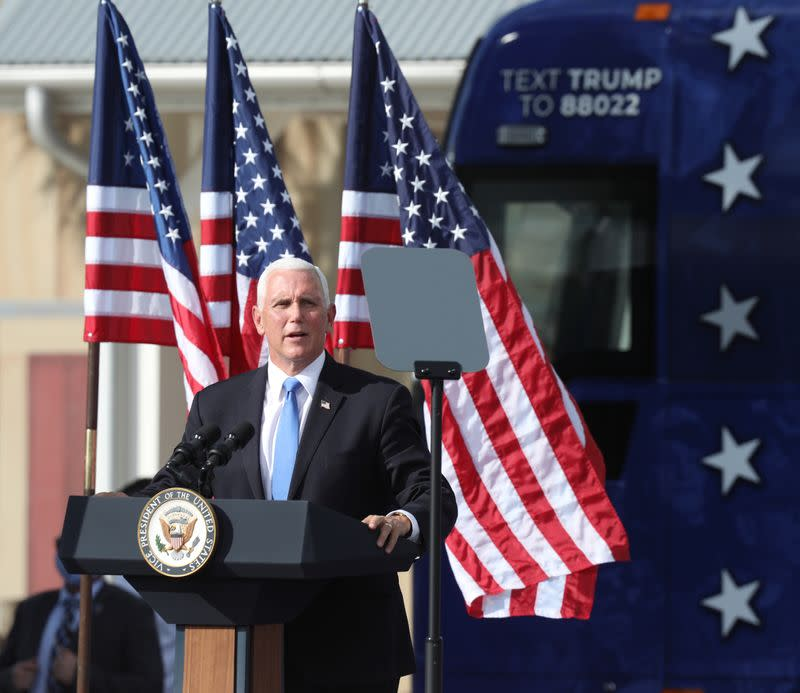 U.S. Vice President Mike Pence campaigning at The Villages in central Florida