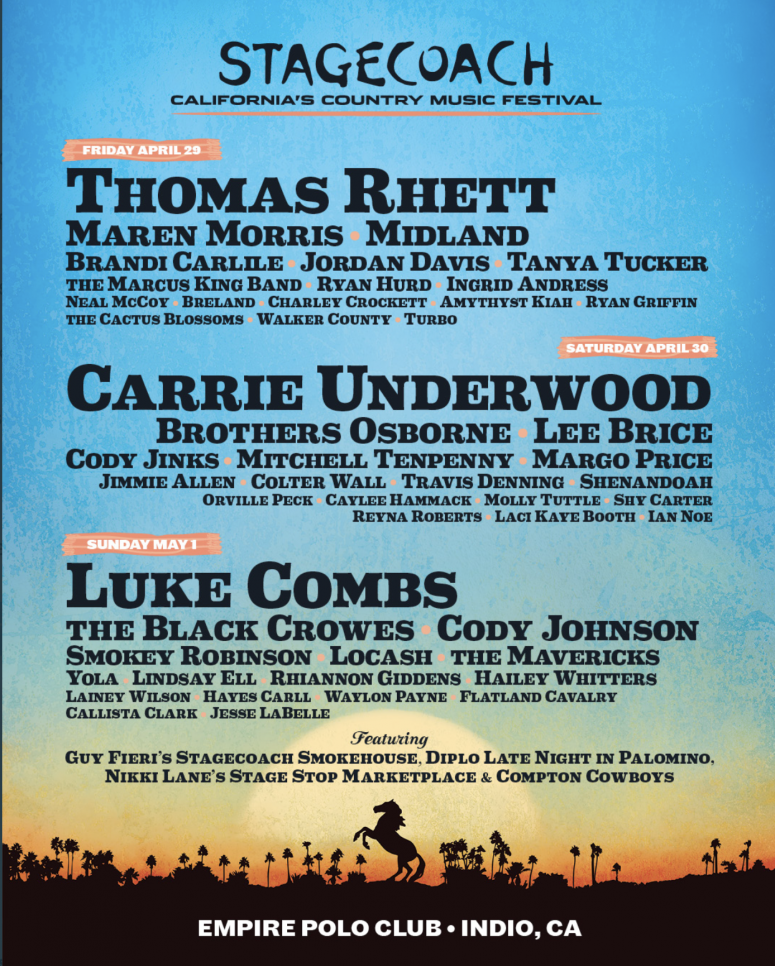 Stagecoach 2022 lineup