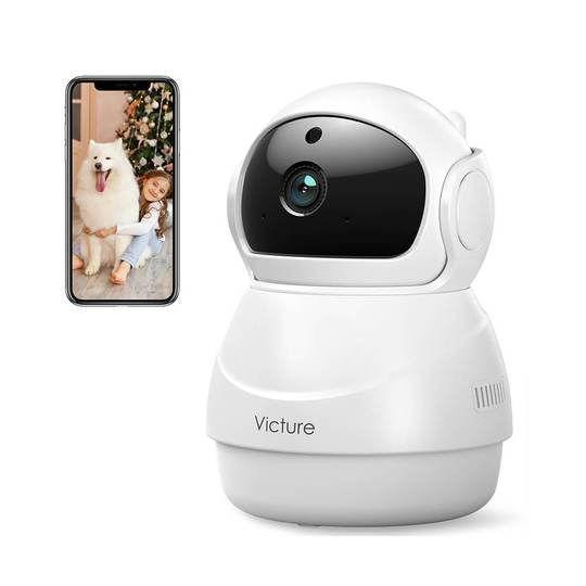 """<p><strong>Victure</strong></p><p>govicture.com</p><p><strong>$34.49</strong></p><p><a href=""""https://govicture.com/products/victure-1080p-wi-fi-camera-baby-monitor-camera"""" rel=""""nofollow noopener"""" target=""""_blank"""" data-ylk=""""slk:Shop Now"""" class=""""link rapid-noclick-resp"""">Shop Now</a></p><p>Relax and keep an eye on your pandemic pup's home life with this 360 degree camera featuring two-way audio, noise and motion detection, and night vision.</p>"""