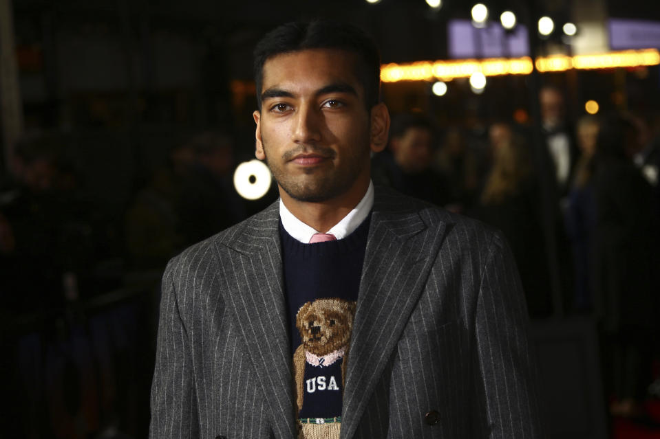 Nabhaan Rizwan poses for photographers upon arrival at the World premiere of the film '1917', in central London, Wednesday, Dec. 4, 2019. (Photo by Joel C Ryan/Invision/AP)