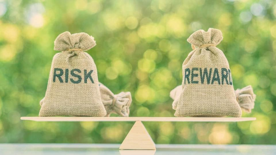 Risk reward ratio / risk management concept