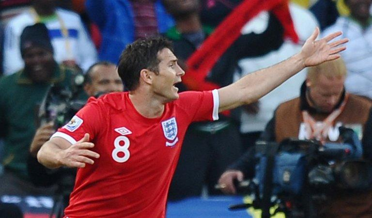 England midfielder Frank Lampard appeals after his effort on goal was ruled out during the 2010 World Cup match against Germany. Television replays showed the whole ball had crossed the goal line. England went on to lose the game 4-1 and were knocked out the competition