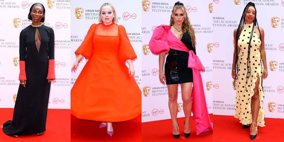 <p>The BAFTA TV Awards 2021 are officially underway with some of your favourite on-screen celebrities walking the red carpet in deliciously extra outfits. As is tradition, we're here to bring you the most notable and head-turning looks from the night in our wrap up of the best dressed celebs.</p><p>From Bridgerton star Nicola Coughlan's radiant tangerine midi and I May Destroy You's Michaela Coel incred cut-out number, there's no shortage of lewks to keep us going tonight. </p><p>So, without further ado, scroll through to look at every must-see outfit from the red carpet.</p>