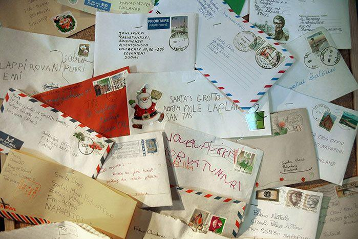 Just some of the letters Santa Claus receives. Image: Getty