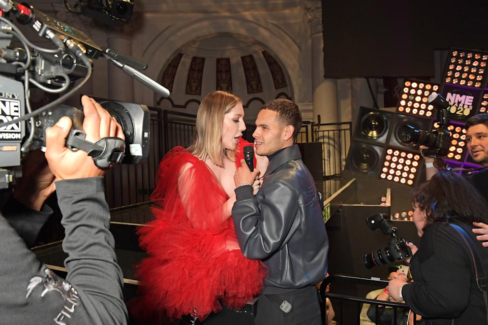 LONDON, ENGLAND - FEBRUARY 12:  Katherine Ryan and Slowthai attend The NME Awards 2020 at the O2 Academy Brixton on February 12, 2020 in London, England.  (Photo by David M. Benett/Dave Benett/Getty Images)