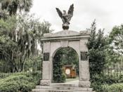 """<p>Cemeteries practically emanate paranormal activity, but <a href=""""https://www.housebeautiful.com/lifestyle/a7207/colonial-park-cemetery/"""" rel=""""nofollow noopener"""" target=""""_blank"""" data-ylk=""""slk:Colonial Park Cemetery"""" class=""""link rapid-noclick-resp"""">Colonial Park Cemetery</a> in <a href=""""https://www.housebeautiful.com/design-inspiration/real-estate/a3755/visit-savannah-georgia/"""" rel=""""nofollow noopener"""" target=""""_blank"""" data-ylk=""""slk:Savannah, Georgia"""" class=""""link rapid-noclick-resp"""">Savannah, Georgia</a> is a <em>bit </em>more active than most. The cemetery has <a href=""""http://www.the-line-up.com/colonial-park-cemetery/"""" rel=""""nofollow noopener"""" target=""""_blank"""" data-ylk=""""slk:quite a deadly track record"""" class=""""link rapid-noclick-resp"""">quite a deadly track record</a>—about 700 of those buried in Colonial Park lie in a mass grave, the victims of the yellow fever epidemic in 1820. The grounds were also once used for dueling (back when that kind of thing was legal); men used to duke it out to the death to settle their differences. That area is now a children's park (WHY?), but at night you can allegedly see the ghosts of those who fought to their deaths. The cemetery is best known for a single ghost, however, who goes by the name Rene Rondolier<span class=""""redactor-invisible-space"""">. Legend has it that Rondolier murdered two girls in the cemetery and was later lynched. He's often still seen swinging from the """"Hanging Tree,"""" where he died, and is considered to be easy to spot—he was nearly 7 feet tall in his day.</span></p>"""