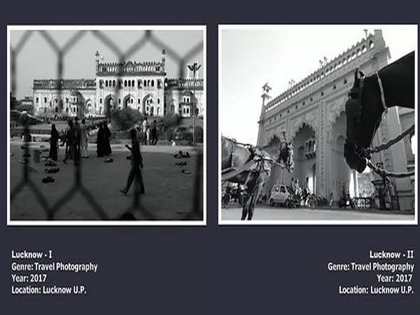A snapshot of the online exhibition 'Frames' on the Gayoor 'art foundation' website