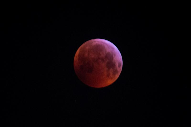 The total lunar eclipse during the early hours of Jan. 21 in London.