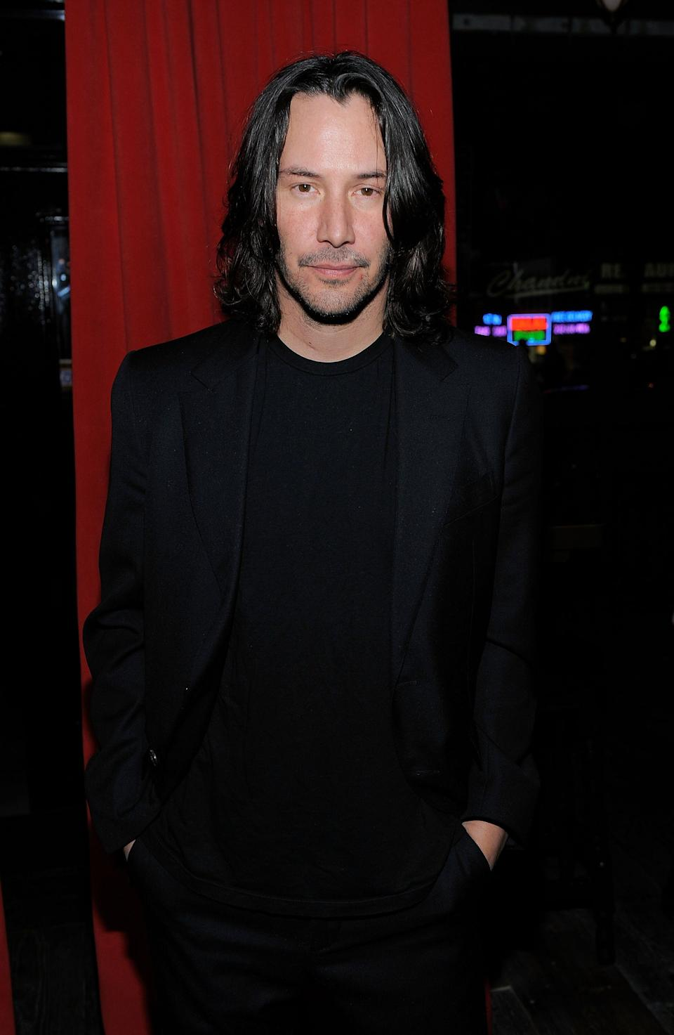 """Reeves attends the Cinema Society and A Diamond is Forever afterparty screening of """"The Private Lives Of Pippa Lee"""" at Ace Hotel in New York City."""