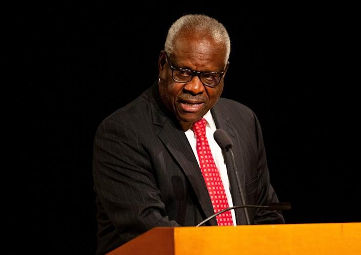Supreme Court Justice Clarence Thomas, during a speech at the University of Notre Dame on Thursday, lamented growing rifts in the U.S., saying,