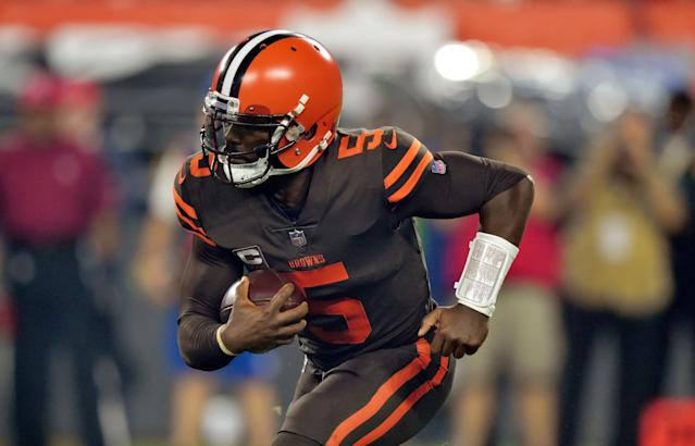 Quarterback Tyrod Taylor has agreed to join the Chargers. (AP)