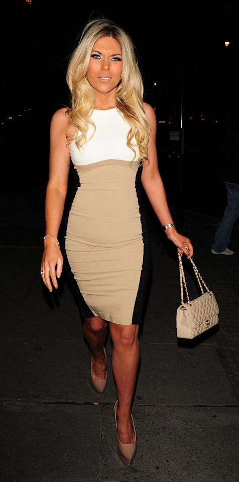 TOWIE's Frankie Essex wore this cream optical illusion dress which looked similar to Kate Winslet's – except without the whopping designer price tag!