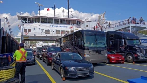 The Société des traversiers du Québec cannot find enough workers to staff the two ferries that usually run between Tadoussac and Baie-Sainte-Catherine. (Marika Wheeler/CBC - image credit)
