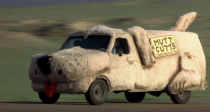"<p>With a name like the Shaggin' Wagon, it was bound to be iconic. Known for its reliability, Lloyd Christmas and Harry Dunne rode in style in this previously nondescript 1984 Ford Econoline. Once the filmmakers gussied it up as Mutt Cutts, it sported a new look as an entirely different creature. Tan carpet was added inside and out, along with a tail, floppy ears, legs, nose, whiskers, and tongue. The van's windshield functioned as the driver's and dog's eyes, and you had to lift a rear leg to reach the gas cap.</p><p><a class=""link rapid-noclick-resp"" href=""https://www.amazon.com/gp/video/detail/0KVMM0PJYYZICQJ7O0624H6VK9/?tag=syn-yahoo-20&ascsubtag=%5Bartid%7C10054.g.27421711%5Bsrc%7Cyahoo-us"" rel=""nofollow noopener"" target=""_blank"" data-ylk=""slk:AMAZON"">AMAZON</a></p>"