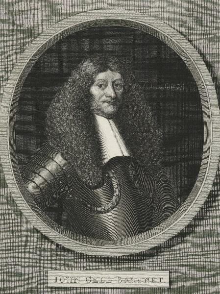 Keeping the flag flying: An engraving of Sir John Gell from the National Portrait Gallery's collection
